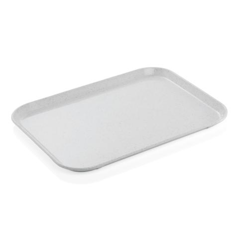 Tablett Tray 97, 45,5 x 35,5 cm, hellgrau mitmit kleinen Punkten, Polyester-Gastro-Germany