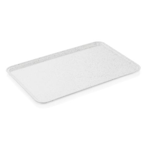 EN Tablett Tray 97, 53 x 37 cm, hellgrau mit kleinen Punkten, Polyester-Gastro-Germany