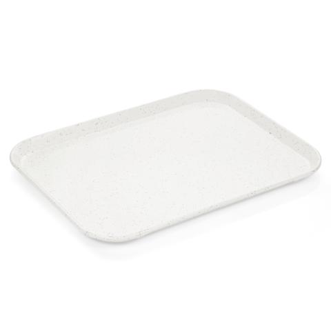 Tablett Tray 97, 45,5 x 35,5 cm, milchweiß mit kleinen Punkten, Polyester-Gastro-Germany