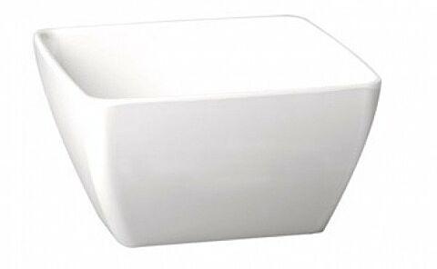 Melamin Schale quadratisch Weiß Höhe 4 cm-Gastro-Germany