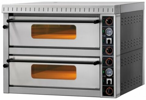 GAM Elektro Pizzaofen MD66 TOP,  Vollschamott, 400 V, für 12 Pizzen-Gastro-Germany