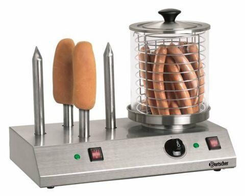 Bartscher Elektrisches Hot Dog Gerät mit 4 Toaststangen-Gastro-Germany