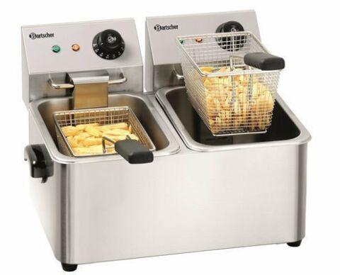 "Bartscher Elektro-Doppel-Fritteuse ""SNACK II"" 2 x 4 Liter-Gastro-Germany"