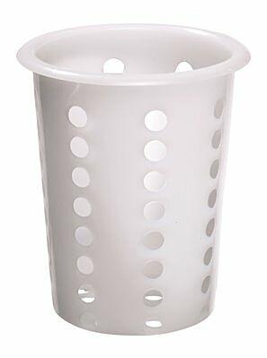 Besteckköcher, Kunststoff, weiß, 115x115x145mm-Gastro-Germany