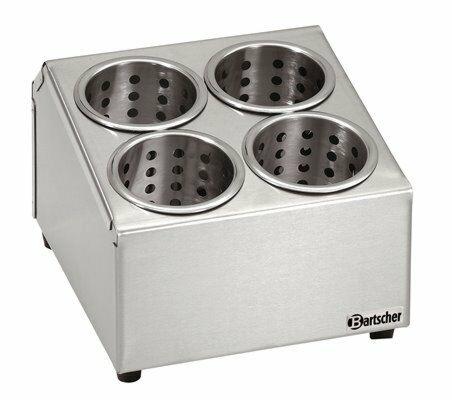 Besteckbehälter für 4 Köcher, 265x305x200mm-Gastro-Germany
