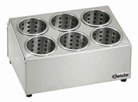 Besteckbehälter für 6 Köcher, 380x300x200mm-Gastro-Germany