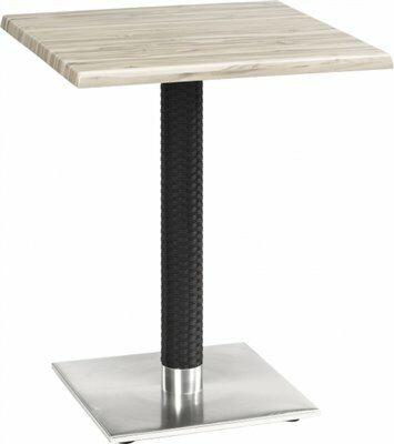 Tischgestell Bella-Eckig für Platten bis 80x80 cm, Seagrass schwarz-Gastro-Germany