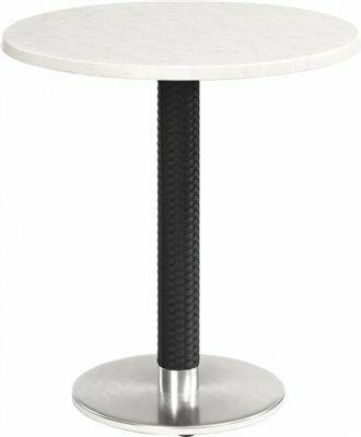 Tischgestell Bella-Rund für Platten bis 80x80 cm, Seagrass schwarz-Gastro-Germany
