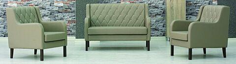 Elit Loungeset, Sofa mit 2 Sesseln in Beige-Gastro-Germany