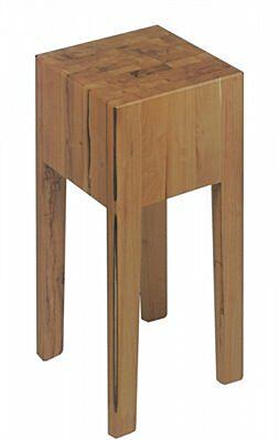 Hackklotz aus gezargtem Holz 400x400x900mm-Gastro-Germany