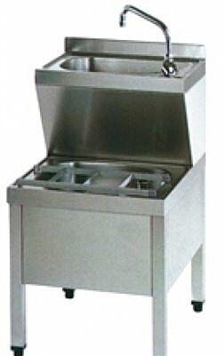 Handwasch-Ausgusskombination HWB6IP 500x600x850 mm-Gastro-Germany