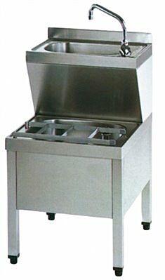 Handwasch-Ausgusskombination HWB7IP 500x700x850 mm-Gastro-Germany