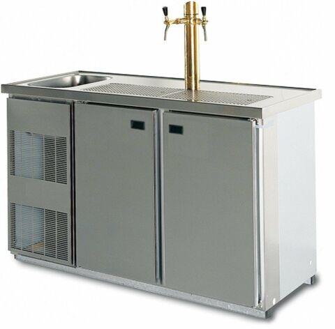 LISSABON Cool-Line Getränketheke, 1 Becken, ohne Abdeckung, Breite 1550 mm-Gastro-Germany