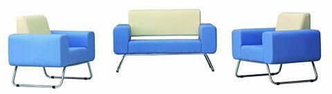 Legend Loungeset, Sofa mit 2 Sesseln in Blau-Gastro-Germany