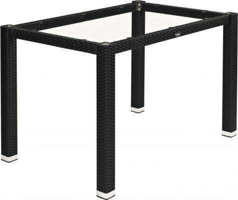 Tischgestell LINA für 120x80 cm Platten, Seagrassoptik schwarz-Gastro-Germany