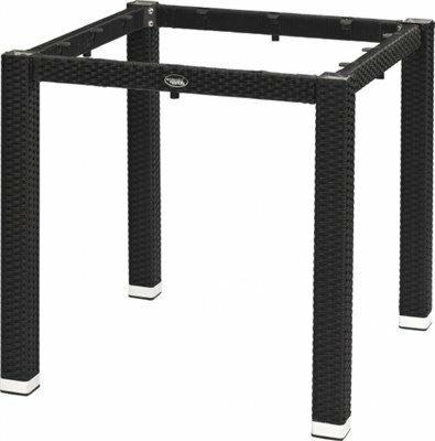 Tischgestell LINA für 80x80 cm Platten, Seagrassoptik schwarz-Gastro-Germany