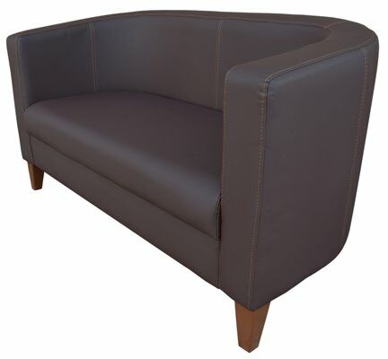 Lounge Cocktailsessel Lucy PRO Braun, 2 Sitzer 130 cm-Gastro-Germany