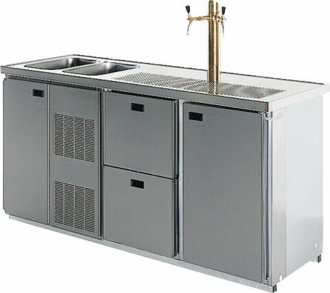 OSLO Cool-Line Getränketheke,2 Becken, ohne Abdeckung, Breite 1900mm-Gastro-Germany
