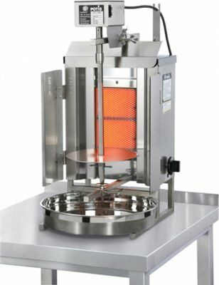 POTIS GD1 Gas Gyrosgrill Dönergrill Kebabgrill 7 kg, Erdgasanschluss-Gastro-Germany
