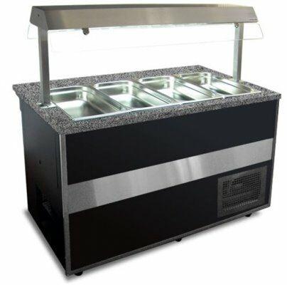 IGLOO Salatbar Buffetwagen Gastroline Open 1.5, Länge 1500 mm-Gastro-Germany