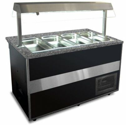 IGLOO Salatbar Buffetwagen Gastroline Open 2.0, Länge 2000 mm-Gastro-Germany