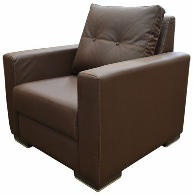 KRISTAL Lounge Sofa 1 Sitzer Braun-Gastro-Germany