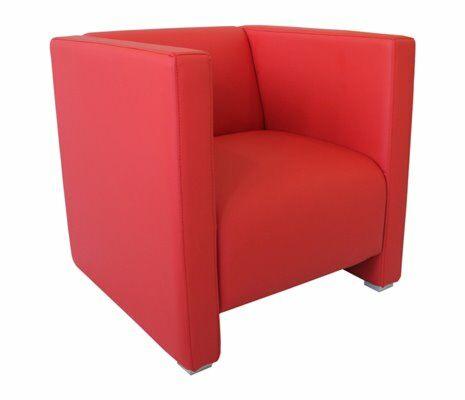 Lounge Bank Reka 70x70 cm, rot-Gastro-Germany