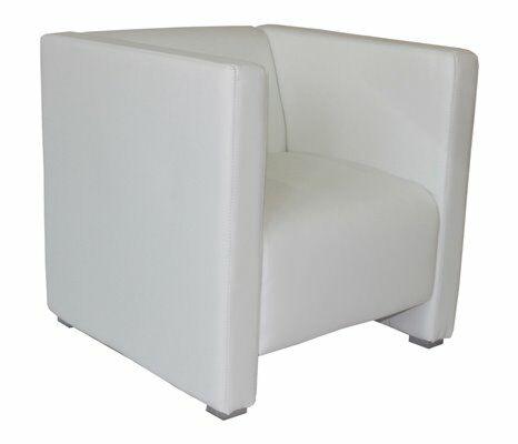 Lounge Bank Reka 70x70 cm, weiss-Gastro-Germany