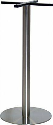 Stehtischgestell Edelstahl, flache Ausführung, Fuß: ø 45 cm, Höhe: 108 cm-Gastro-Germany