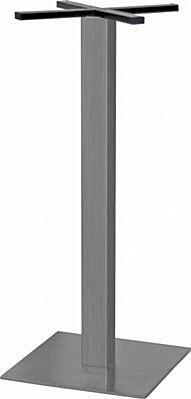 Stehtischgestell Edelstahl, flache Ausführung, Fuß: 45x45 cm, Höhe: 108 cm-Gastro-Germany