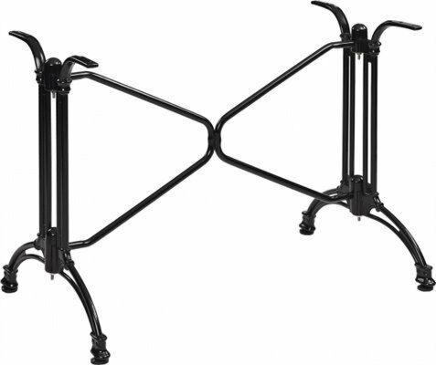 Tischgestell Oslo-Double für Platten bis 120x80 cm, schwarz-Gastro-Germany