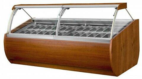IGLOO Eistheke Eisvitrine Aruba 2.5 für 28 Behälter, Breite 2635mm-Gastro-Germany