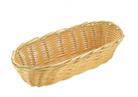 Brot- und Obstkorb, oval, 36 x 15 cm, H: 7 cm-Gastro-Germany
