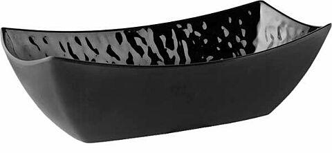 Schüssel, rechteckig TAOaus Melamin, schwarz, Steinoptik, 32,5 x 17,5 cm, H: 10 cm-Gastro-Germany