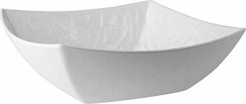 Schüssel, quadratisch TAOaus Melamin, weiß, Steinoptik, 30,5 x 30,5 cm, H: 10 cm-Gastro-Germany