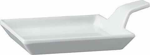 Fingerfood-Teller  Melamin, weiß, 9,5 x 9,5 cm, H: 1,5 / 3,5 cm-Gastro-Germany