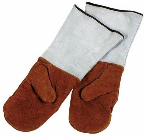 Backhandschuhe, Länge 45 cm, Leder, gefüttert mit Stulpen-Gastro-Germany