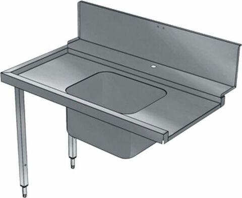 Vorwaschtisch mit 1 Becken, Laufrichtung links nach rechts, 800 mm-Gastro-Germany