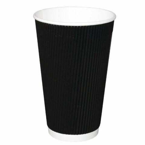 Fiesta To Go Kaffeebecher Wellpappe 455 ml schwarz 500 Stück-Gastro-Germany