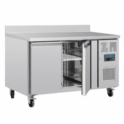POLAR Kühltisch mit Aufkantung 2-türig 282L