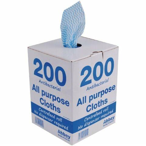 Jantex antibakterielle Mehrzwecktücher blau, 200 Stück-Gastro-Germany