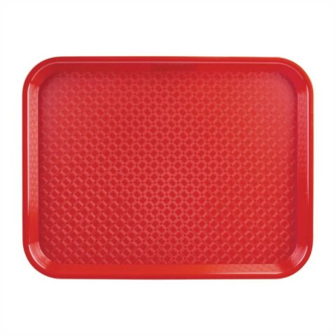 Kristallon Fast-Food-Tablett rot 34,5 x 26,5cm-Gastro-Germany
