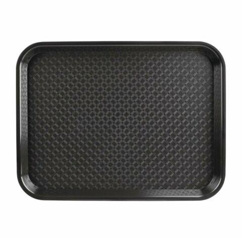Kristallon Fast-Food-Tablett schwarz 34,5 x 26,5cm-Gastro-Germany