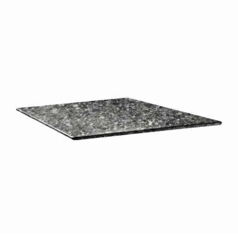 Topalit Tischplatte Smartline eckig schwarzer Granit 70x70 cm