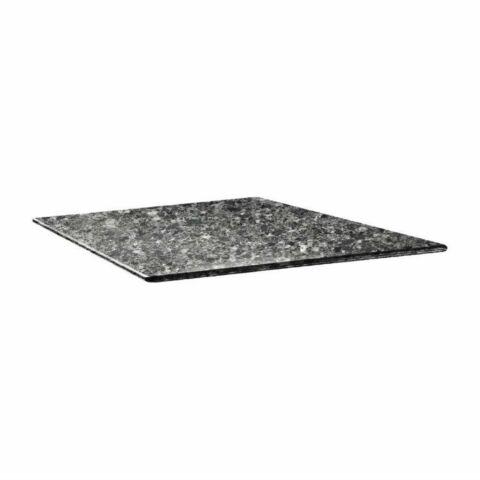 Topalit Tischplatte Smartline eckig schwarzer Granit 80x80 cm