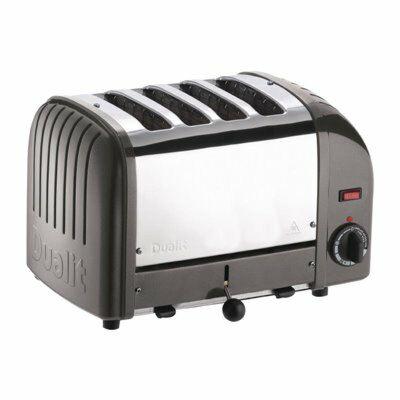 Dualit Toaster 40348 grau, 4 Scheiben Toaster-Gastro-Germany