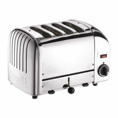 Dualit Toaster 40352 Edelstahl, 4 Scheiben Toaster-Gastro-Germany