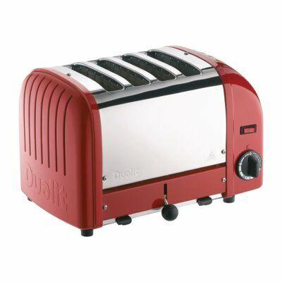 Dualit Toaster 40353 rot, 4 Scheiben Toaster-Gastro-Germany