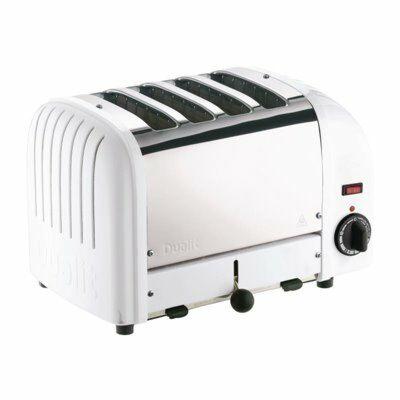 Dualit Toaster 40355 weiß, 4 Scheiben Toaster-Gastro-Germany