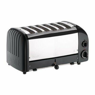 Dualit Toaster 60145 schwarz, 6 Scheiben-Gastro-Germany